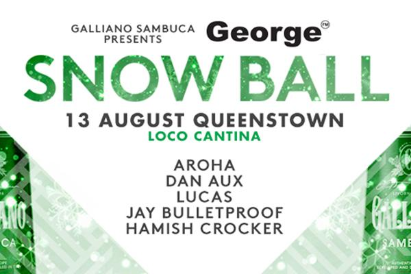 Get to the Galliano Sambuca George FM Snow Ball in Queenstown